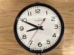 Vintage General Electric School Office Wall Clock with Red Dot 1950s Works Great