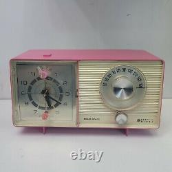 Vintage General Electric Tube Radio Alarm Clock Lot Pink & Blue