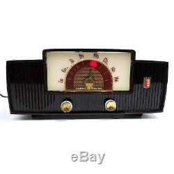 Vintage General Electric Tube Radio Dial Beam Mid Century Modern Red Rare Works