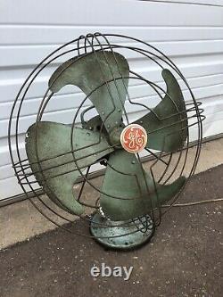 Vintage General Electric Vortalex Oscillating Fan No. 91 Works