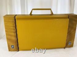 Vintage General Electric Yellow GE WILDCAT tested and working record player