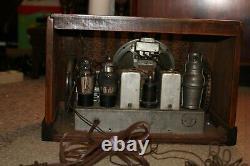 Vintage General Electric tube radio, restored, model GD 63, 1938
