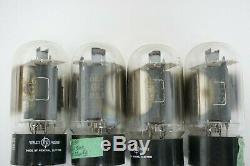 Vintage HP GE General Electric 6l6GC Tubes Quad X4 USA