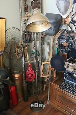 Vintage Industrial General Electric Adjustable Floor Lamp Steampunk