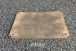 Vintage Metal Sign/Plaque GE General Electric Synchronous Converter HCC