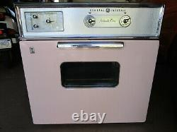 Vintage Mid Century Pink GENERAL ELECTRIC Cooktop Stove Wall Oven Built In