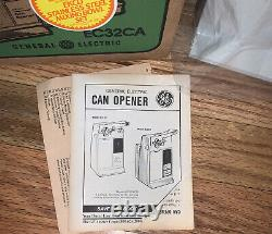 Vintage New Unused Old Stock General Electric Can Opener EC32CA With Box Almond