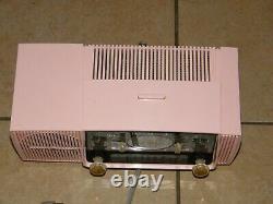 Vintage PINK General Electric RADIO Home AM Alarm Clock GE Model C-416 RARE 12