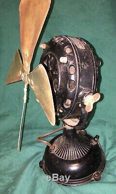 Vintage Pancake Motor General Electric brass blade Fan
