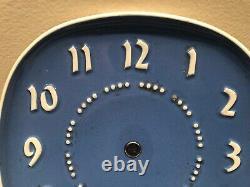 Vintage RUSSEL WRIGHT Clock DARK BLUE experimental General Electric MCM