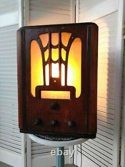 Vintage Radio General Electric 1936 model E-71 made into a light Newly crafted
