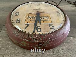 Vintage & Rare General Electric Drink Dr. Pepper Good For Life Round Wall Clock