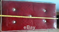 Vintage Red GENERAL ELECTRIC Vacuum cleaner in plush case with attachments