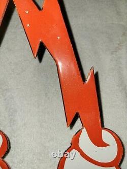 Vintage Reddy Kilowatt Man Large Porcelain Sign Electricity General Electric