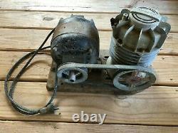 Vintage Speedy Compressor GE General Electric Motor 27468 Type SA 1920s-30s