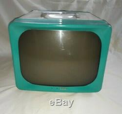 Vintage TURQUOISE 1950'S G. E. General Electric Model 14TO TUBE TV Television