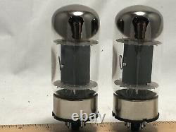 Vintage pair General Electric 6550A metal base Power Tubes