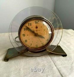 Vintage'pink Rapture Electric Clock Art Deco 1941 General Electric