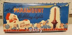 Vtg 1950s PARAMOUNT Xmas BUBBLE LIGHTS Set of 8 Lights UNUSED