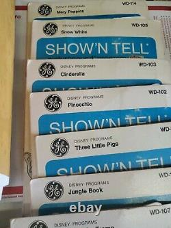 Vtg 1960's GE Show'N Tell Phono Viewer A651C 14 stories Working needs needle