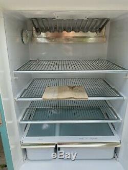 Vtg 1960s 1970s GE general electric refrigerator Fridge Swag Modern Teal Tcf15sa