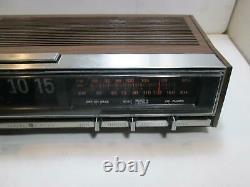 Vtg General Electric GE Retro Flip Clock Alarm AM/FM Radio 7-4321B TESTED WORKS