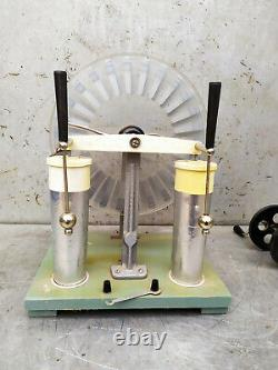 Wimshurst Machine Lab Static Electricity Generator / USSR Vintage