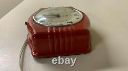 Working Vintage 1960s General Electric Red Kitchen Clock 2H14
