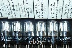 10 Nos Nib 6sl7gt Assiette Ronde Argent 6sl7gt General Electric Vintage Tubes 5691