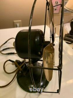 1920 Ge Whiz General Electric Whiz 9 Fan Ge Vintage Antique Brass Blade
