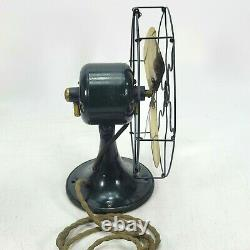 1920 Vintage Antique General Electric Whiz 9 Fan Ge Brass Blade Works Voir VID