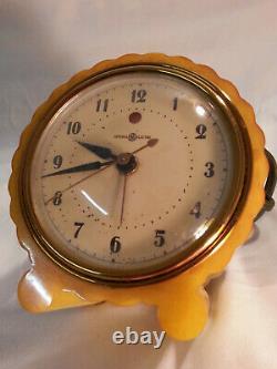1930 General Electric Butterscotch Catalin Réveil Réveil Nice Swirls