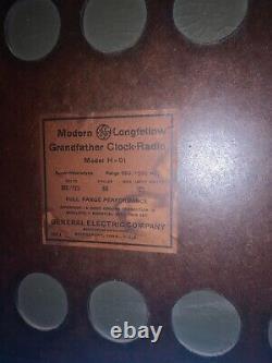 1931 Vintage General Electric Grandfather Clock Modern Longfellow H-91 Pas De Radio
