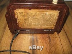 1940 Antique General Electric Ge Bakélite H-520 Travaux Rares Radio Tube 1940 Vtg
