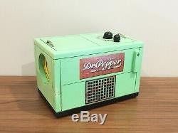 1940 Vintage En Bois Dr. Pepper Cooler Radio General Electric Restauré Travail