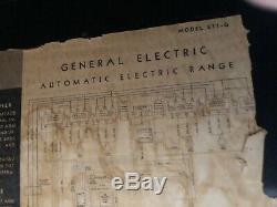 1948 General Electric Range Vintage (e11-g)