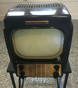 1949 General Electric 800d Vintage Tv L'état De Fonctionnement De La Locomotive Classique