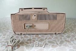1950 Atomique Rose Ge Radio-réveil Century General Electric MID 50s Vintage Tube
