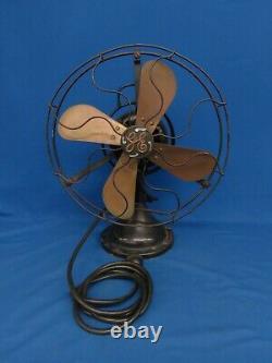 3 Speed Vintage Ge General Electric 4-blade 13 Travaux De Ventilateur D'oscillation En Métal