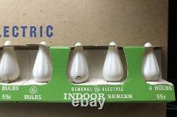 30 Ensembles De 4 Vintage Blanc Ge Intérieur Série C-6 Lumières De Noël 120 Ampoules Nib