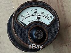 7-1 / 2 Ge Antique Industrielle Voltmètre Jauge Steampunk Vtg. General Electric # 1