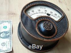 7-1 / 2 Ge Antique Industrielle Voltmètre Jauge Steampunk Vtg. General Electric # 2