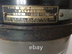 Ancien Vintage Industriel C-8 General Electric Co. Horloge Des Années 1920