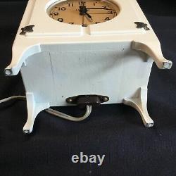 Anciennes Années 1930 Art Déco General Electric Ge Telechron Promo Réfrigérateur Horloge