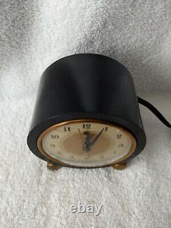 Années 1930 Art Deco Ge Modèle 7f72 Heralder Bakelite Horloge -works Great