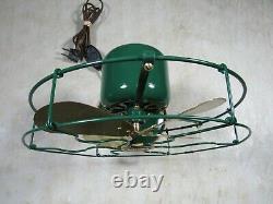 Antique 1919/1920 Ge General Electric 9 Lames En Laiton Whiz Table Fan