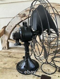 Antique 1920 Ventilateur Électrique Général Vortalex De 18 Pouces Forme V