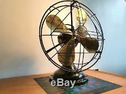 Antique / Art Vintage De General Electric Company Gec Déco Bureau Ventilateur Électrique