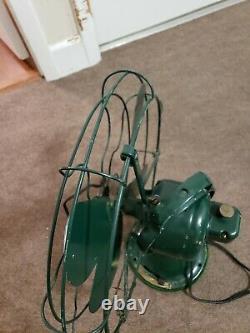 Antique Cast Iron Ge General Electric 16 Eventail Oscillant Avec 4 Lames 3 Vitesses
