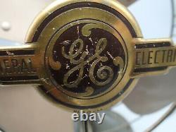 Antique Ge General Electric Vortalex Électrique Oscillateur De Bureau Fm12v1